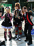 Three Japanese Girls in Harajuku